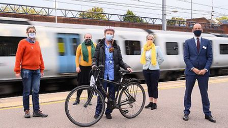 Nurse Jane O'Connor is the first winner of six bikes abandoned at Thameslink stations that have been