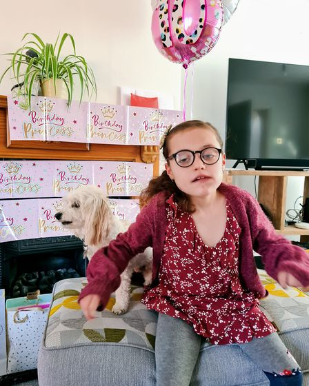 Inspirational 10-year-old Aida Palfrey from St Neots is now aiming to raise £6,000 for a specialist
