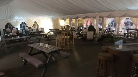 The paddock area at The White Horse in Eaton Socon