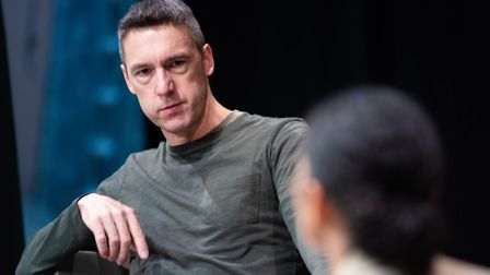 Rehearsals for Company of Ten's forthcoming production of Building the Wall at the Abbey Theatre in