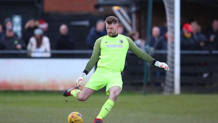 Joe Welch made two big saves in the penalty shoot-out. Picture: DANNY LOO