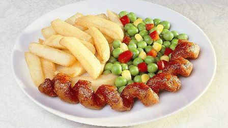 Turkey twizzlers on a plate. Photograph: Cat Bartman/Archant.
