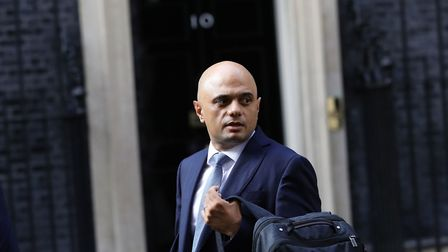 Chancellor of the Exchequer Sajid Javid outside 10 Downing Street. Photograph: Aaron Chown/PA Wire.