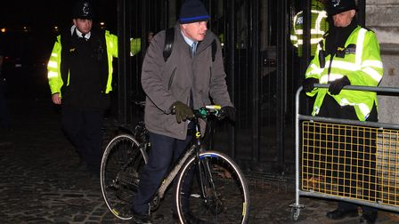 Boris Johnson leaving the Houses of Parliament in Westminster, Picture: Victoria Jones/ PA Wire