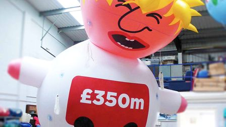 The 'Boris Blimp' will be the star of the show at the anti-Brexit March for Change. Picture: supplie