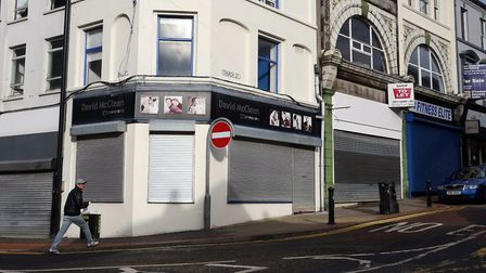 Closed shops in Ballymena town centre, Co Antrim. The Office for Budget Responsibility has warned th