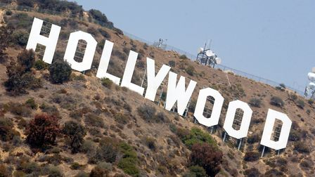 Hollywood sign in the Hollywood Hills, Los Angeles, California.. (Photo by Jeff Overs/BBC News & Cur