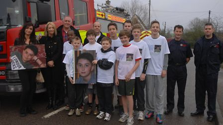 Eight friends took part in a 10k run in memory of County High student Ethan Linwood. Over 40 members