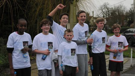 Ethan's friends completed a 10k run.