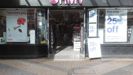 The Stevenage HMV store has not been listed for closure