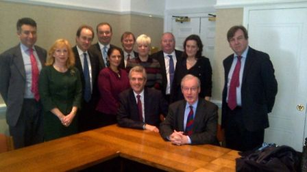 Nick Alston (seated left) with the Conservative MPs from across Essex including Sir Alan Haselhurst