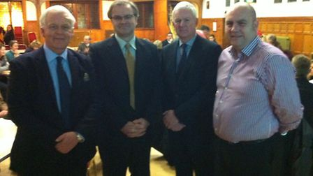 From left, Saffron Walden town clerk Simon Lloyd, UDC's economic development officer, Simon Jackson,
