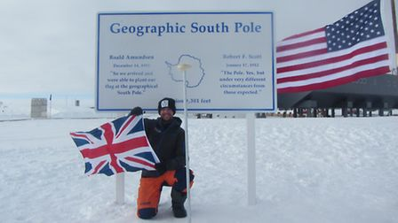 Henry Evans at the South Pole