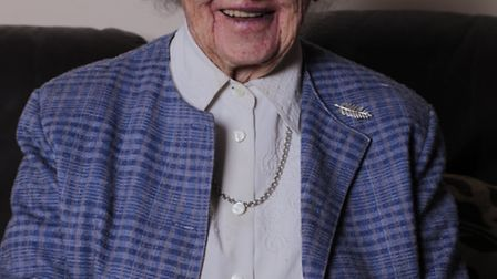 Mary Read, pictured at home, turns 100 on the 29th of January