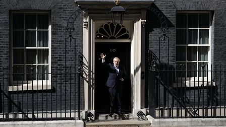 New prime minister Boris Johnson waves outside 10 Downing Street. Picture: Aaron Chown/PA Wire/PA Im