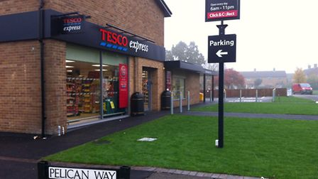 The Tesco Express in Pelican Way, Letchworth GC, opened on Friday