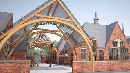 An artist's impression of the plans to redevelop Braintree District Museum.