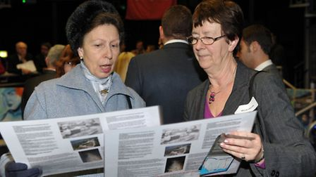 Princess Royal meeting Nellie Verton of the Watersnood Museum in the Netherlands