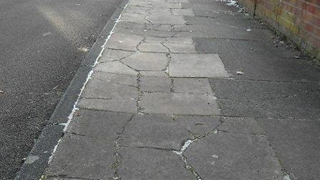 Pete Austin is calling for something to be done about the state of the pavements