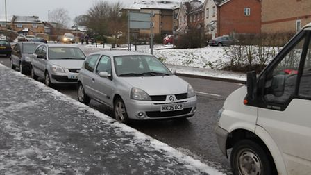 Aylward Drive resident Brian Mole is worried there could be an accident due to the number of cars pa