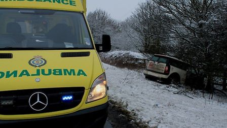 The car crashed into a tree and a fence after leaving the A1(M)