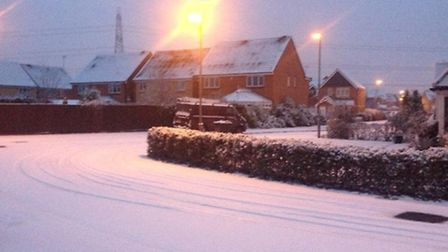 Schools are expecting to close tomorrow due to forecast snow. Picture by @stevenage_tico