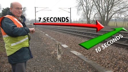 Newport parish councillor and ex-railwayman John Smith has calculated that it takes 10 seconds to cr