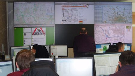 The county council's transport control centre
