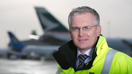 The new managing director of Stansted Airport, Andrew Harrison.
