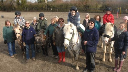 Children at Saffron Walden & District Riding Club for the Disabled are celebrating the unveiling of