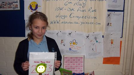 Eleanor Dewell was chosen as the winner of Ashdon Primary School's competition to design the logo fo