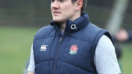 England and Saracens player Alex Goode visiting Maple Primary School