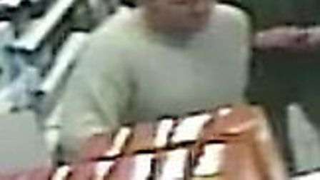 A CCTV image of a man suspected of stealing £550 worth of items from Boots The Chemist, in Market Pl