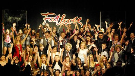 The full cast of Footloose, the latest production from the Helena Romanes School