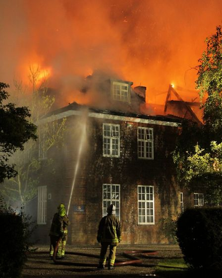 Follyfield House was burnt down by fire i nJuly 2012