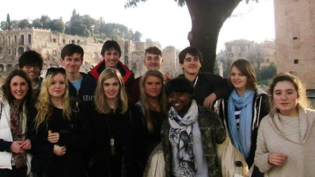 Twelve sixth-form students spent their half term break in the Italian capital as part of their A Lev