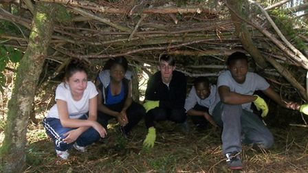 Young people design and build their own shelter on NCS 2012