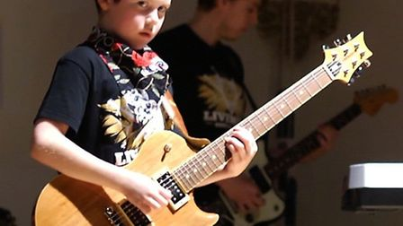 Youngsters were on stage for LiveWire Rock Academy's first concert