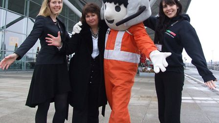 From left, Helena Morgan - Essex & Herts Air Ambulance Trust, Marcella M'Rabety - Stansted Airport,