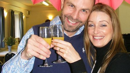 Laurence and Candice Ball loved their Valentine toast at the brunch in Hinxton Village Hall.