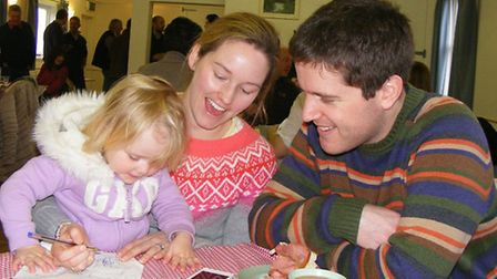 Loving families including Tom and Polly Williams with their daughter Arabella joined in the fun at H