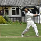 David Gypps hits a four against Birchanger last year.
