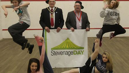 Stevenage mayor John Lloyd and councillor Howard Burrell, Executive member for children and young pe