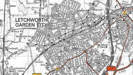 Some of the proposed Letchworth GC sites for the signs