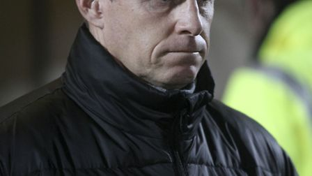 Stevenage boss Gary Smith during Boro's defeat to Oldham