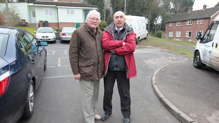 Pictured is Cllr Michael Muir with Mike Shepherd, local resident and long term campaigner