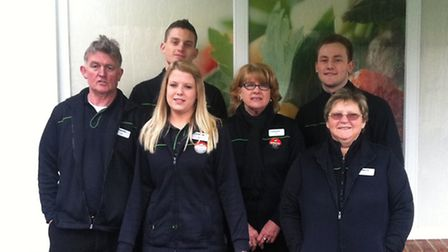 Six of the 10lottery winners from the Co-op store in Great Bardfield.