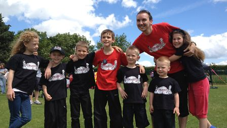 Stephen Sapsed with children from Angelz