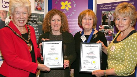 Cllr Kay Twitchen, chairman of Essex County Council is pictured with Cllr Christina Cant, Chairman o