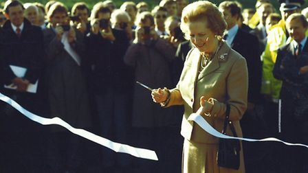 PM Mararet Thatcher declares the final section of the M25 open in 1986